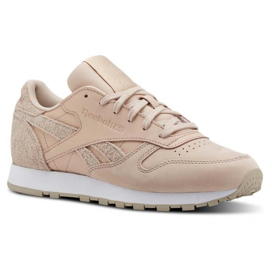 Reebok Classic Leather Shoes Womens Beige/White CN2960