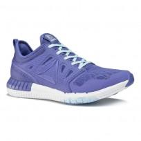 Reebok Zprint 3d Running Shoes Womens Grey/Blue/White BS9086