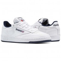 Reebok Club C 85 Shoes Mens White/Navy AR0457