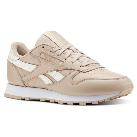 Reebok Classic Leather Schuhe Damen Streifen Beige/Weiß CN4020