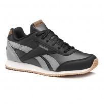 Reebok Royal Classic Jogger Shoes Boys Black/Deep Grey/Cream CN4819