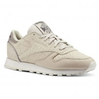 Reebok Classic Leather Shoes Womens Gold CN4625