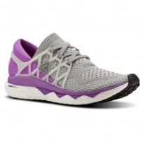 Reebok Custom Floatride Run Running Shoes Womens Light Grey/Purple BS8185
