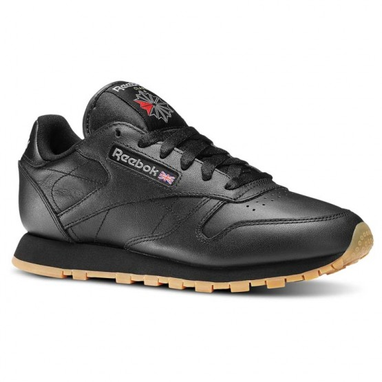 Reebok Classic Leather Shoes Womens Black 49804