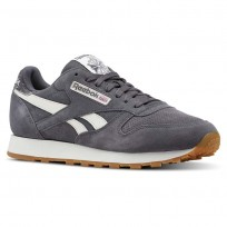 Reebok Classic Leather Shoes Mens Grey CN5772