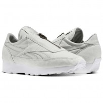 Reebok Aztec Shoes Womens Grey/Silver Metallic/White BS6641