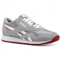 Reebok Classic Nylon Schuhe Herren Grau/Weiß/Rot CN5149