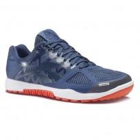 Reebok Crossfit Nano Shoes Mens Wash Blue/Navy/Light Orange/White CN7123