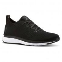 Reebok Print Smooth Running Shoes Womens Black/White/Gold CN2898