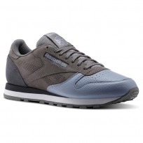 Reebok Classic Leather Shoes Mens Black/White BS9937