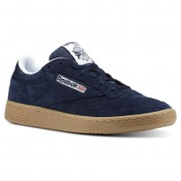 Reebok Club C 85 Shoes Mens Navy/White CN3386
