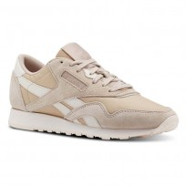 Reebok Classic Nylon Shoes Womens Beige/Pink CN2888