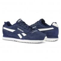 Reebok Royal Glide Shoes Mens Navy/White BS5814