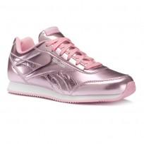 Shoes Reebok Royal Classic Jogger Girls Metallic/Light Pink/White CN5012