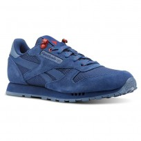 Reebok Classic Leather Shoes Boys Blue/Red CN4703