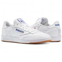 Reebok Club C 85 Shoes Mens White/Royal AR0459