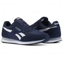Shoes Reebok Royal Classic Jogger Mens Navy/White/Grey V70711