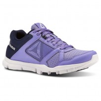 Reebok Yourflex Trainette Training Shoes Womens Navy/White CN5654