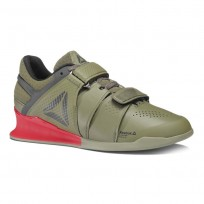 Reebok Legacy Lifter Shoes Mens Green/Red BS8216