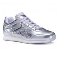 Shoes Reebok Royal Classic Jogger Girls Metallic/Purple Grey/White CN5011