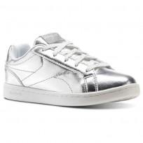 Reebok Royal Complete Shoes Girls Silver Metallic/White CN1291