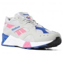 Reebok Aztrek Shoes Mens Grey/Pink/Royal/White DV3941