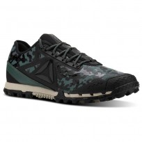 Reebok At Super 3.0 Running Shoes Mens Black Camo/Green CN2904