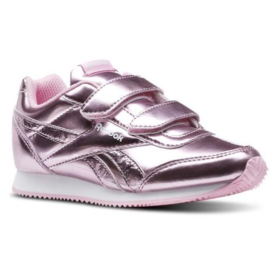 Shoes Reebok Royal Classic Jogger Girls Metallic Light Pink/White CN5843