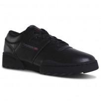 Reebok Workout Ripple Og Shoes For Men Black/Deep Grey/Red DV5327