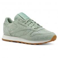 Reebok Classic Leather Schuhe Damen Grün CN4987