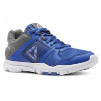 Reebok Yourflex Train 10 Training Shoes Boys Blue/White CN5247