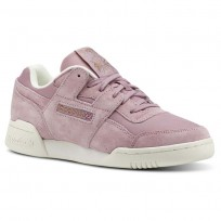 Reebok Workout Lo Shoes Womens Rose Gold CN4623
