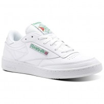 Reebok Club C 85 Shoes Mens White/Green/Red CN0645