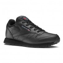 Reebok Classic Leather Shoes Kids Black 50170