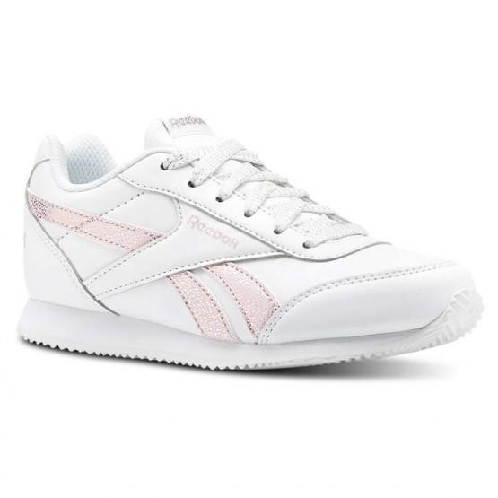 Reebok Royal Classic Jogger Shoes Girls White/Pink/Silver CN4773