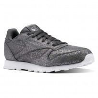 Shoes Reebok Classic Leather Girls Grey/White CN5587