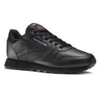 Reebok Classic Leather Shoes Kids Black 50149