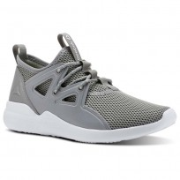 Reebok Cardio Motion Studio Shoes Womens Grey/Lemon CN4863