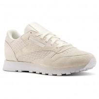 Reebok Classic Leather Shoes Womens Beige/White BT0006