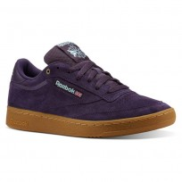 Reebok Club C 85 Shoes Mens Deep Purple CN3866