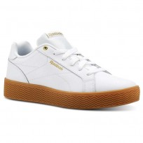Reebok Royal Shoes Womens White/Gold Metallic CN3238