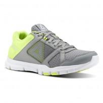 Reebok Yourflex Trainette Training Shoes Womens Grey/Yellow/White CN4732