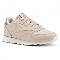 Reebok Classic Leather Shoes Girls Beige CN5562