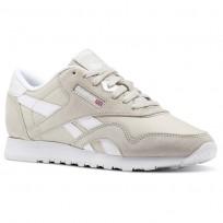 Reebok Classic Nylon Shoes Womens Beige/Grey/White BS9379