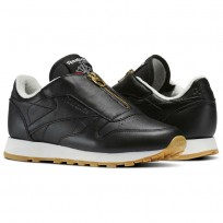 Reebok Classic Leather Shoes Womens Black BS8064