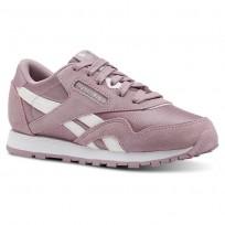 Reebok Cl Nylon Shoes Girls White/Silver CN4871