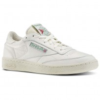 Reebok Club C 85 Shoes Mens White/Green/Red V67899