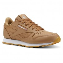 Shoes Reebok Classic Leather Kids Brown/White CN5610