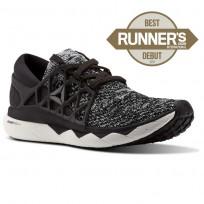 Reebok Custom Floatride Run Running Shoes Womens Black/White CM9059