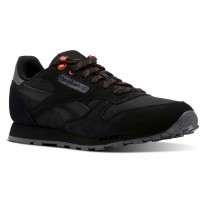 Reebok Classic Leather Shoes Kids Black CN4705